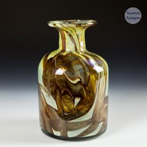 Large Mdina Earthtone Vase designed by Michael Harris Made c1972-4