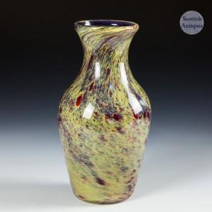 Webb Corbett Moss Agate Vase c1920