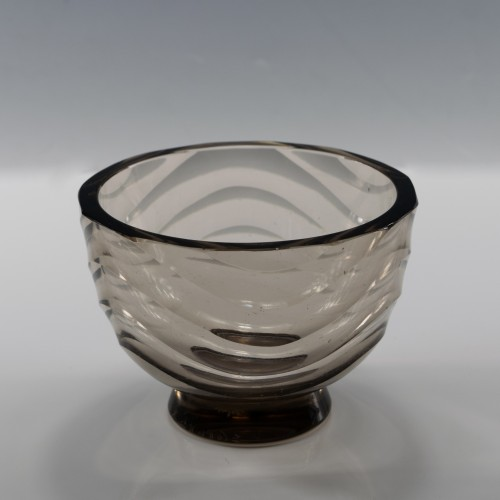 Signed Simon Gate for Orrefors Wave Pattern Bowl c1930