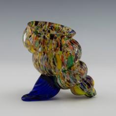 Kralik Polychrome Shell Vase c1900