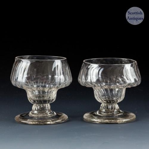 Pair of Georgian Monteith Bonnet Glasses c1760