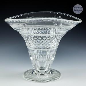 A Thomas Webb & Sons Cut Glass Vase c1930