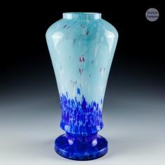 A Blue Ruckl & SonsSpatter Glass Vase c1930