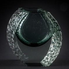 Alessandro Mandruzzato Sommerso Textured Ice Vase c1965