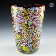 An Arte Vetraria Muranese AVeM Tutti Frutti Vase c1950