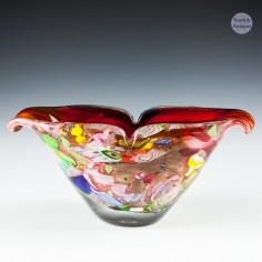 An Arte Vetraria Muranese AVeM Tutti Frutti Bowl c1950