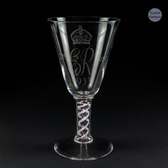 Whitefriars Colour Twist Coronation Goblet 1952-3