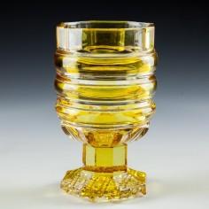 A Biedermeier Cut Glass Beaker c1880