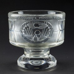 Footed glass vase by Bertil Vallien for Boda-Åfors