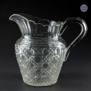 Victorian Cut Glass Water Jug c1870