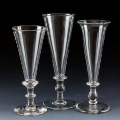 Three 19th Century Champagne Flutes