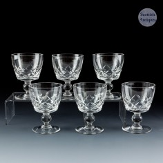 A Set of Six Stuart STU30 Port Glasses c1935