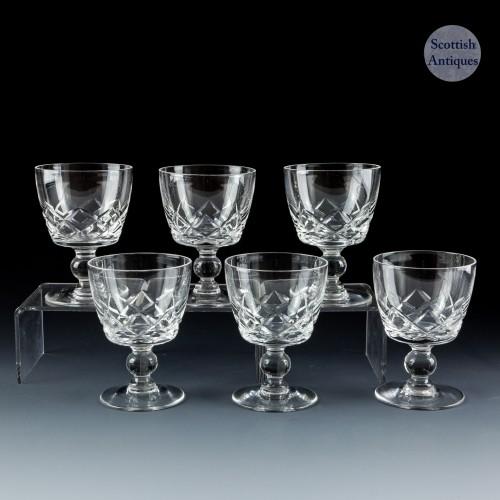 A Set of Six Stuart STU30 Port Glasses c1935