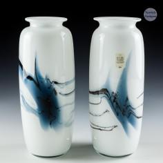 A Pair of Michael Bang Atlantis Vases by Holmegaard Designed 1981
