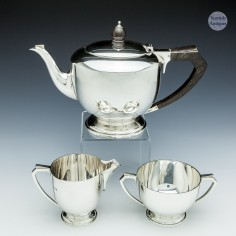 Sterling Silver Art Deco Teaset London 1937
