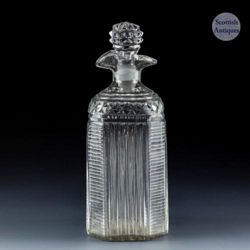 Georgian Moulded Pint Decanter c1800