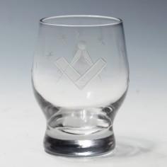 Masonic Engraved Schnapps Glass