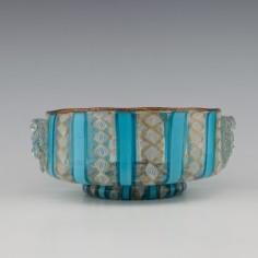 Salviati Latticino Maskhead Bowl c1910