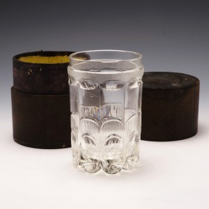 Very Rare Campaign Tumbler with Moroccan Leather Case c1840