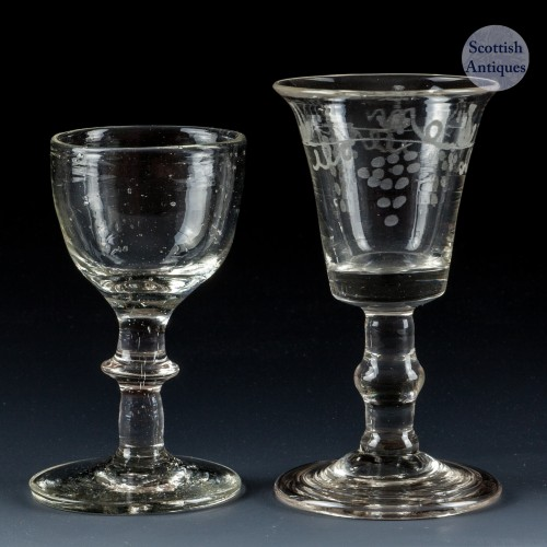 Two Continental Gin Glasses c1780