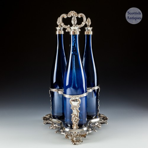 Victorian Silver Plated Decanter Stand c1850