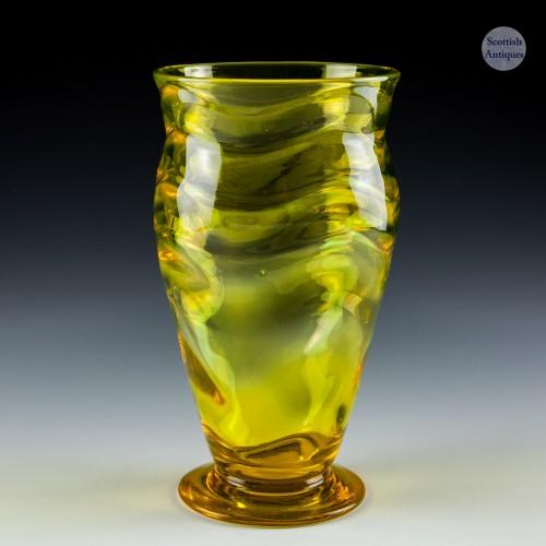 A Webb  Wave Pattern Vase Designed 1931
