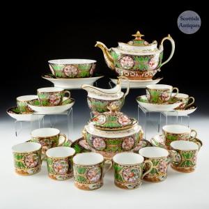 John Rose Coalport Tea Set c1815