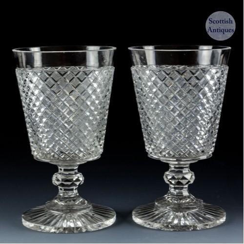 Pair Bucket Bowl Rummers c1890