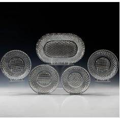 Regency Style Cut Glass Dessert Service