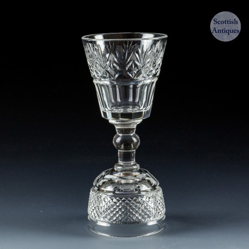Victorian Double Bowl Dram Glass