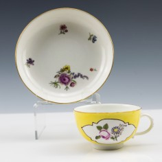 Meissen Porcelain Teacup and Saucer c1752