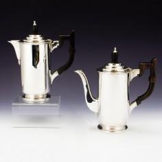 Harrods Sterling Silver Art Deco Café au Lait Set London 1935