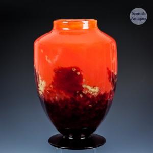 A Large Schneider Glass Vase Made for Ovington New York c1920