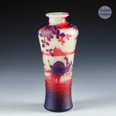 A De Vez Three Colour Cameo Vase Depicting Venice c1910