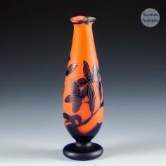 A Loetz  Acid Cut Cameo Vase c1920