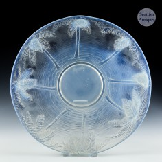 A Barolac Opalescent Glass Charger c1935