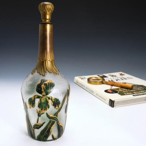 A Liqueur Bottle By Victor Saglier c1900