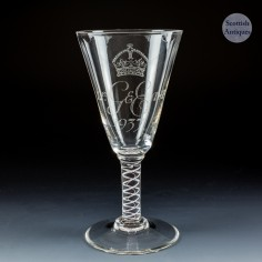 Whitefriars Commemorative George VI Coronation Goblet  1937