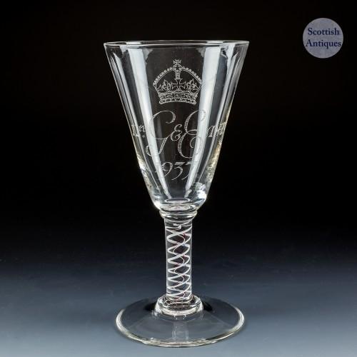 Whitefriars Commemorative George VI Coronation Goblet  1937
