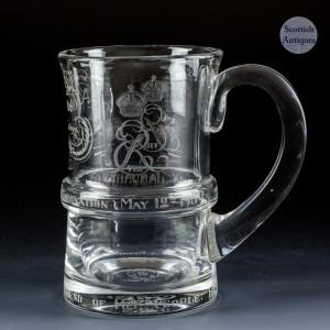 Commemorative Half Pint Tankard for the Abdication of Edward VIII 1936