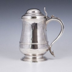 VG Silver Quart Domed Tankard London 1764