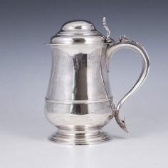 Silver Quart Domed Tankard London 1764