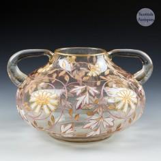 A Fritz Heckert Jungendstil Enamelled Vase c1900