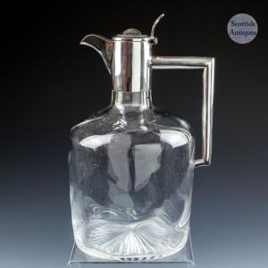 Silver Topped Claret Jug Birmingham 1902