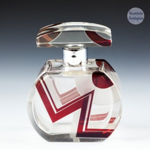 Karel Palda Lightning Pattern Perfume Bottle c.1940