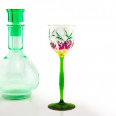 Theresienthal Enamelled Wine Glass c 1905