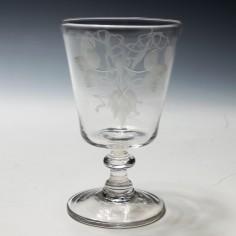 Engraved Georgian Bucket Bowl Rummer c1820