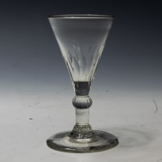 A Georgian Petal Moulded Gin Glass c1780