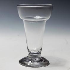 A Georgian Pan Top Jelly Glass c 1770