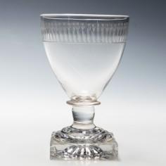 19th Century Port Glass with Lemon Squeezer Foot c1800